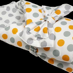 Конверт для новорожденных желтые круги